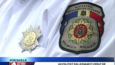 Un poliţist din Leova a fost reţinut de ofiţerii anticorupţie, pentru trafic de influenţă