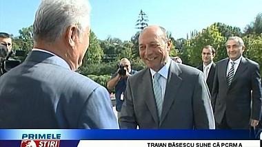 Duelul declaraţiilor între Băsescu şi Voronin