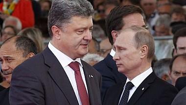 Vladimir Putin și Petro Poroșenko au discutat despre o posibilă încetare a focului în estul Ucrainei