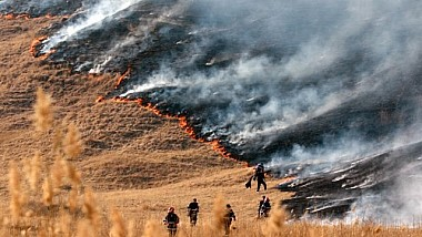 S-au înteţit incendiile de vegetaţie