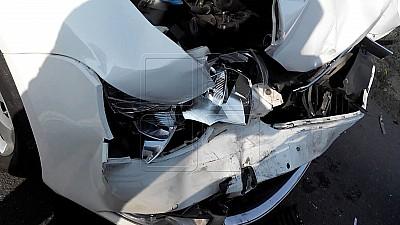 Carambol cu opt maşini în apropiere de satul Cojușna. O persoană a fost rănită şi a fost transportată la spital