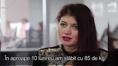 Poveste devenită virală pe internet. O femeie din Moldova a slăbit 85 de kg în 10 luni de dragul soțului