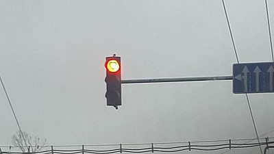 Semafoarele de pe bulevardul Ștefan cel Mare, luminează în formă de inimioare pentru toți îndrăgostiții