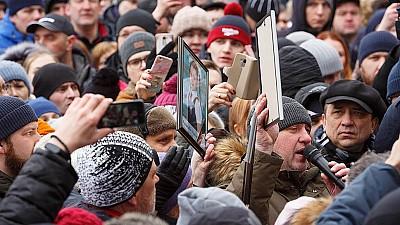 Митинг в Кемерово. Несколько тысяч жителей требуют отставки мэра города