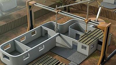 Imaginea zilei: În Danemarca a fost construită o casă cu ajutorul unei imprimante 3D