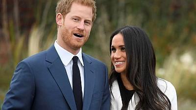 Imaginea zilei: Englezii se află în febra pregătirilor pentru nunta anului a prinţului Harry şi a actriţei Meghan Markle