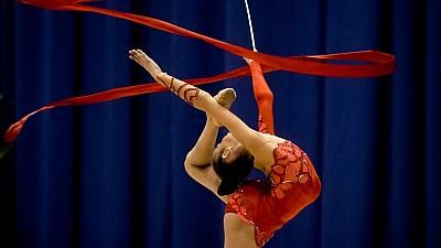 Turneu de gimnastică la Chișinău. Peste 250 de sportivi din patru ţări au încercat să impresioneze juriul cu talentul lor