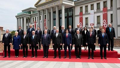 Визит в Грузию. В Тбилиси Андриан Канду участвовал в торжественной церемонии