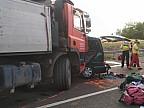 Accident teribil pe o șosea din Ungaria. Nouă români și-au pierdut viața, după ce microbuzul în care se aflau a ieșit pe contrasens