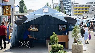 Спасение от жары. В городах установлены палатки для оказания медицинской помощи