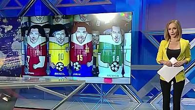 Imaginea zilei: Rușii au creat păpuși matrioșca cu chipurile fotbaliștilor celebri