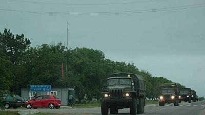 Îndată după decizia ONU, pe traseul Dubăsari - Grigoriopol - Tiraspol au fost observate maşini blindate fără numere de înmatriculare