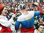 Imaginea zilei: Suporterii naționalei ruse de fotbal au sărbătorit pe străzile din Moscova victoria în partida cu Egiptul de la Campionatul Mondial