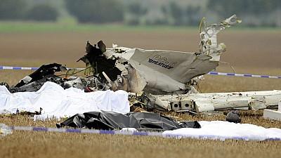 Un avion militar s-a prăbușit într-un județ din România. Cei doi piloți aflați la bord s-au catapultat