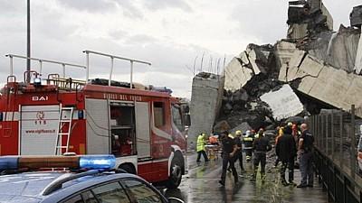 Tragedia din orașul italian Genova: În urma prăbușirii podului, sub dărâmături s-ar mai afla între 10 şi 20 de victime
