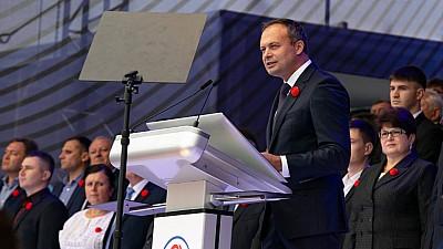 """Andrian Candu la Adunarea Națională """"PDM Pentru Moldova"""": integrarea europeană se face aici, acasă, crescând nivelul de trai al oamenilor"""