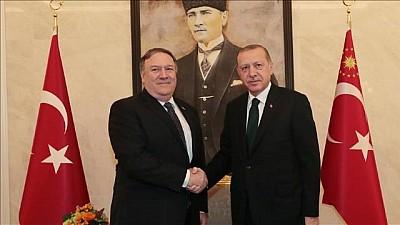 Președintele Turciei, Recep Erdogan, a avut o întâlnire cu secretarul de Stat al SUA pe Aeroportul Internațional din Ankara