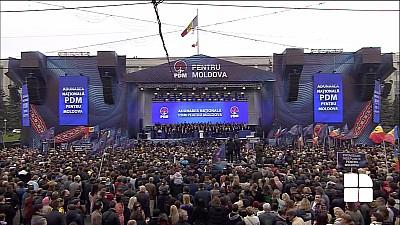 """Zeci de mii de oameni participă la Adunarea Națională """"PDM Pentru Moldova"""""""