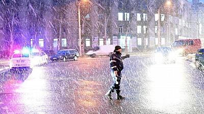 Prima ninsoare în Moldova! Drumarii au curăţat toată noaptea străzile şi şoselele din țară